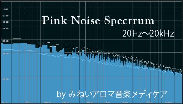 ピンクノイズの周波数成分